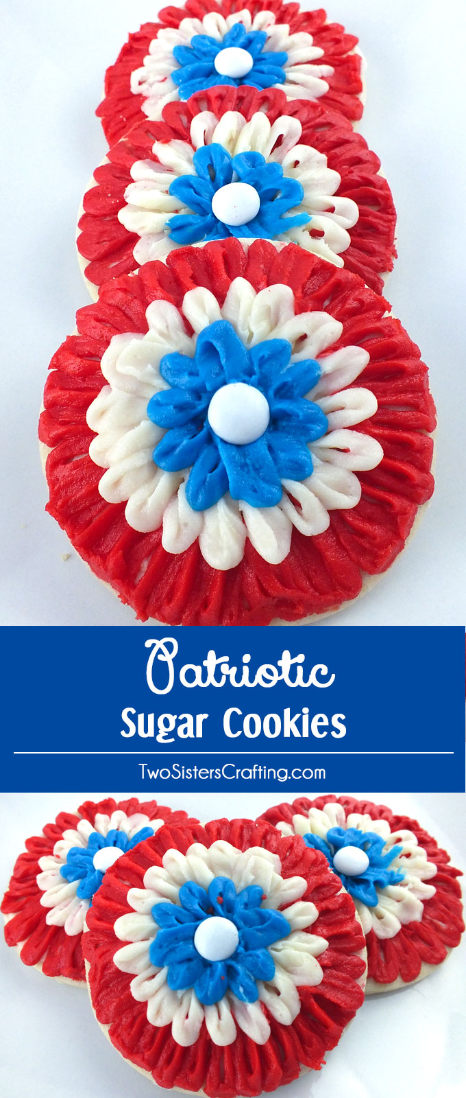 We've found 15 of the Best 4th of July Cookies.  These red, white and blue desserts will wow your guests at your Fourth of July party or summer family BBQ! These 15 yummy Patriotic Desserts are delicious 4th of July treats.  Pin these easy to make Independence Day cookies for later and follow us for more 4th of July Food Ideas.