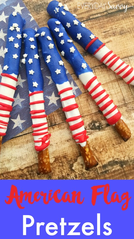 American Flag Pretzels by Everyday Savvy